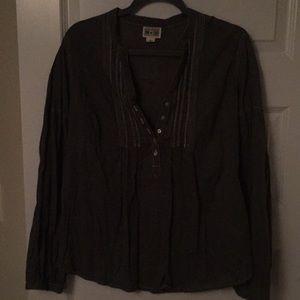 Converse cotton popover blouse